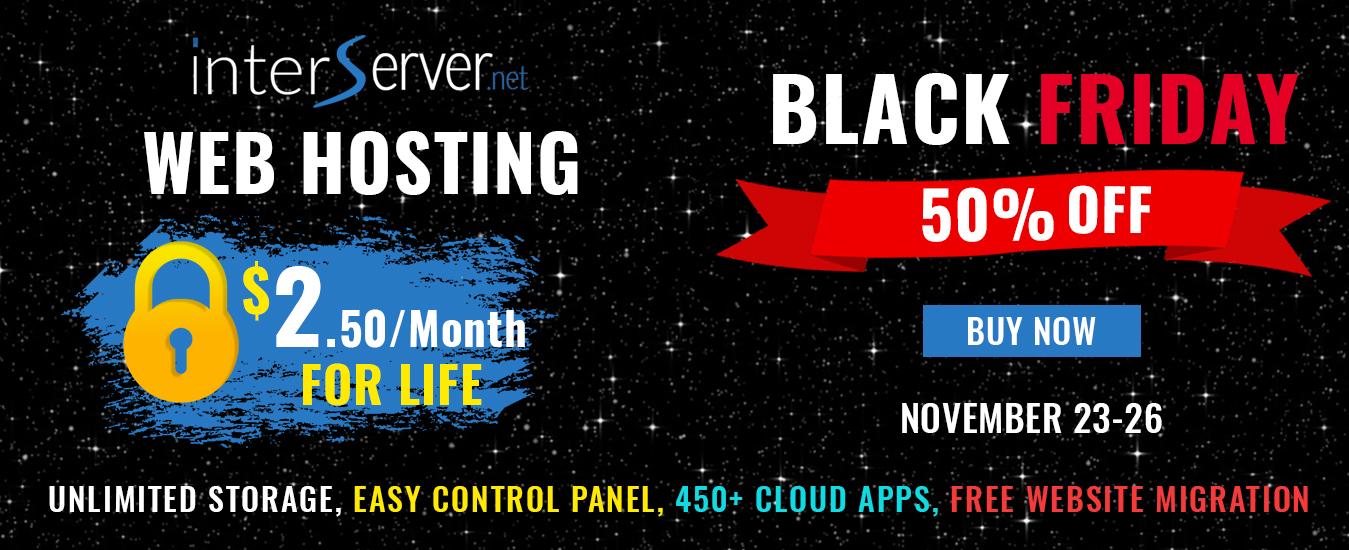 interserver Black friday deals 2018 Cyber Monday