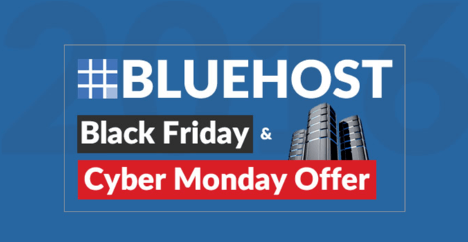 Bluehost Black Friday Cyber Monday Deals 2019: 60% OFF[$2.65/Mo]